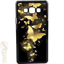 Custodia cover per Samsung Galaxy A3 a300f RIGIDA nera 023 farfalle foderino