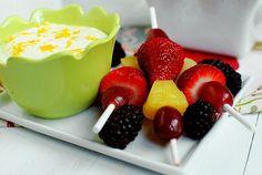 The Best Fruit Dip EVER - just 3 ingredients! #snack #dip @Iowa Girl Eats | iowagirleats.com