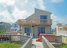 Looking for a fun beach vacation? Need to take a break from all the hustle and bustle? Well then you need a TIME OUT! Get that swagger back in your step at this one of a kind popular oceanfront vacation home. TIME OUT features 4 restful bedrooms (one with a private entrance and kitchenette), fantastic ocean views and classic Outer Banks interiors. Allow those muscles of yours to untwist by relaxing in the oceanfront hot tub!