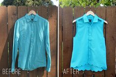 refashion a button-up