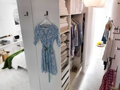 studio apartment - make your own walk in closet from Ikea