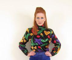 Vintage Ungaro Blouse / 1980s Silk Shirt / by BasyaBerkman on Etsy, $80.00