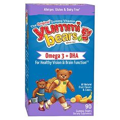 Yummi Bears Omega 3   DHA Supplement for Kids, 90 Gummy Bears >>> You can get more details by clicking on the image.