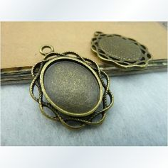 13x18mm 20X Bronze Oval Cameo Setting Y462