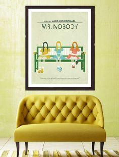 Nobody ** Modern wall art, minimalist poster, digital illustration, fine art print. An original art work by MunaMias designers. Print on true Minimal Movie Posters, Minimal Poster, Mr Nobody, Movie Poster Art, Film Posters, Vintage Horror, Jaco, Diane Kruger, Vintage Movies