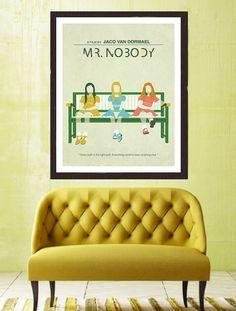 ** Mr. Nobody ** Modern wall art, minimalist poster, digital illustration, fine art print.  An original art work by MunaMias designers.  Print on true
