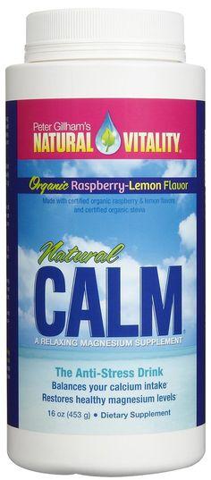 Natural Vitality® Calm, Magnesium Citrate Supplement Powder, Anti-Stress Drink Mix, Raspberry Lemon - 16 ounce (Package May Vary) Natural Calm Magnesium, Vapo Rub Uses, Uses For Vicks, Vicks Vaporub Uses, Magnesium Supplements, Magnesium Drink, Calcium Magnesium, Magnesium Citrate For Constipation, Natural Remedies