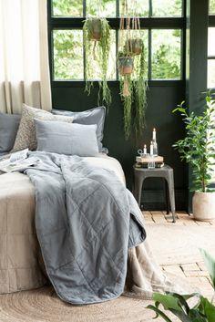 Plaid Coton, Bella Rose, Comforters, Macrame, Hanger, Blanket, Bed, Retro, Nature