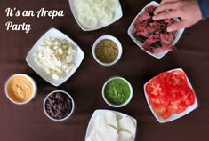 Venezuelan Arepas party - check this delicious toppings and plan this party soon!