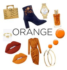 """""""🍊"""" by everybodylovesblk on Polyvore featuring beauty, Eugenia Kim, Topshop, Lime Crime, Lancôme, Gucci, Movado and Pieces"""