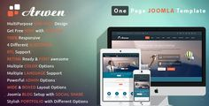 Arwen - Responsive One Page Joomla Template