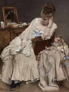 Memories and Regrets - Alfred Stevens Alfred Stevens, Amber Tree, Clark Art, European Paintings, Sell Your Art, Painting Frames, Oil On Canvas, Fine Art Prints, Memories
