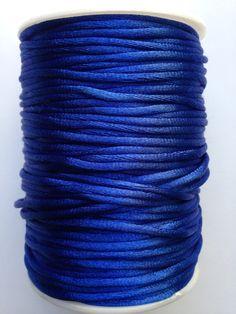 Royal Blue Satin Rattail Nylon Cord 2mm 92yds per roll DIY