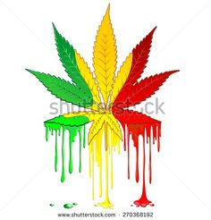 ❀ NEW on #Shutterstock! ❀ #Marijuana #Leaf #Rasta #Colors #Dripping #Paint - #Vector #illustration - by #Bluedarkart  http://www.shutterstock.com/en/pic.mhtml?id=270368192