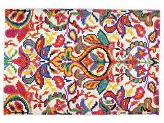 Handmade rectangular wool rug VANESSA by The Rug Republic