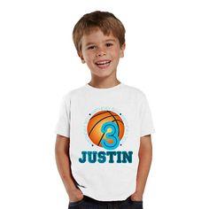 Basketball birthday boy personalized birthday by shirtsbynany, $14.99 #birthdayboy #basketballshirt #3birthday #3yearsshirt #personalizedshirt #kidshirt @nanycrafts