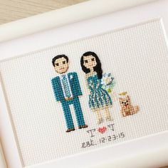 'Olga and her Mom are the queens of cross stitching. I've been stalking their work on Instagram for some time and finally ordered a surprise anniversary/Christmas gift for my sister and brother in law. Olga is so sweet and very easy to work with. The portrait turned out absolutely perfect. In fact, it brought my sister to tears! I will definitely be ordering again. Thanks again!'