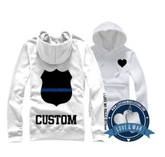 Thin Blue Line sweatshirt. I like this, but in grey. * Love & War original design*   On Etsy