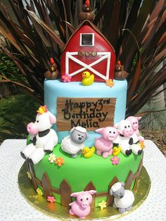 Emma's favourite toy right now is this barnyard plush animal set--so this would be a cute birthday theme!