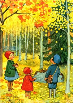 Elsa Beskow - Swedish autumn