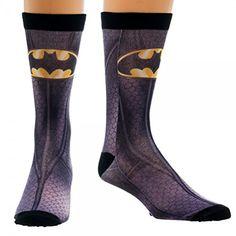 DC Comics Batman Logo Sublimated Mens Crew Socks @ niftywarehouse.com