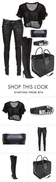 """Untitled #117"" by ahmonie on Polyvore featuring Dsquared2, Love Leather, Balmain, Tamara Mellon and CÉLINE"