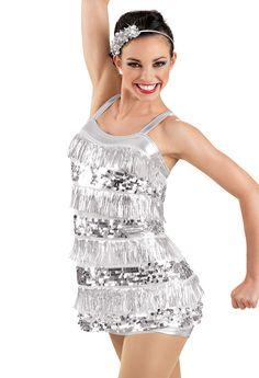 Metallic Sequin Fringe Dress -Weissman Costumes