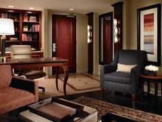 Lounge in the parlor of an Executive Suite  www.auhcc.com #HotelatAuburn #AUHCC