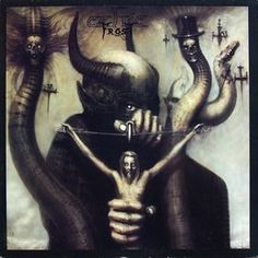 Celtic Frost - To Mega Therion.  Titled after the Great Wild Beast himself's magical moniker, To Mega Therion is a masterpiece of independent, thoughtful metal.  Also, the Cover art by H.R. Giger - Satan I - is creepy, blasphemous, and interesting all at the same time.  I don't know how Satan thinks he's going to use that little dart to spear Jesus, even from that distance.  I mean, dude, it'll never fly straight.