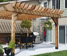 There are lots of pergola designs for you to choose from. You can choose the design based on various factors. First of all you have to decide where you are going to have your pergola and how much shade you want. Diy Pergola, Building A Pergola, Small Pergola, Pergola Attached To House, Pergola Swing, Metal Pergola, Deck With Pergola, Covered Pergola, Pergola Ideas