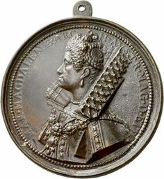 The coin is dated 1613 but seeing the back of hair and the supportasse under the ruff is great.  Italien Toscana, Grossherzogtum Cosimo II. von Medici, 1609-1620 Einseitige Bronzegussmedaille 1613, auf seine Gemahlin Maria Magdalena von ...