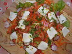 Cinco sentidos na cozinha: Salada de massa com queijo fresco