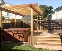 Like the deck w/ hot tub (perfect size for my back yard)