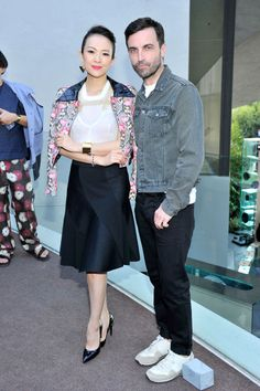 Zhang Ziyi and Nicolas Ghesquiere. See all the celebs who attended the Louis Vuitton cruise 2016 show.