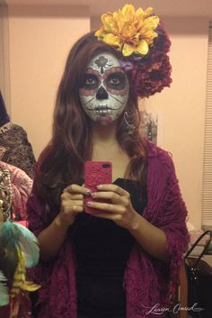 Halloween DIY: Sugar Skull Makeup and costume