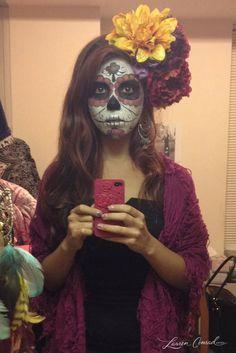 Halloween DIY: Sugar Skull Makeup and costume