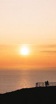The midnight sun is a natural phenomenon in Norway where the sun does not set in the summer months.