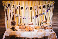 Vintage Style Wedding Dessert Table