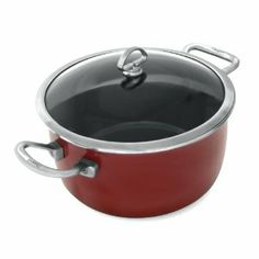 Chantal Copper Fusion 7-Quart Stew Pot, Chili Red by Chantal. $275.00. Dishwasher-safe; safe for use on all cooktops; oven-safe; broiler-safe without the lid. Measures approximately 11 by 7-1/2 by 7-1/2 inches. Tempered-glass lid (oven-safe up to 375 degrees F) traps in heat and moisture. 7-quart stew pot with enamel-on-steel design for a nonstick surface and fast, even heating. Stay-cool loop side handles--rivetless for a seamless interior cooking surface. Amazon.com Product Des...