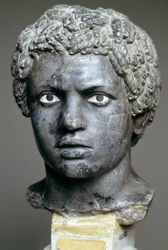 Black Youth with Pierced Ears Hellenistic Marble, 26 cm. Museo Nazionale Romano, Rome.