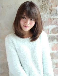 Medium Long Hair, Long Hair Cuts, Medium Hair Styles, Short Hair Styles, Kawaii Hairstyles, Bob Hairstyles, Japanese Haircut, Wine Hair, Asian Short Hair