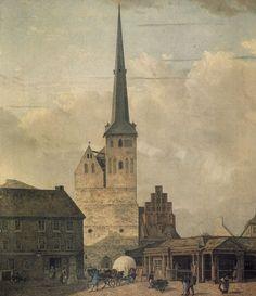 1827 Die Nikolaikirche in Berlin