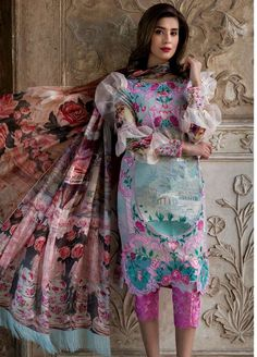 Asifa Nabeel Spring Lawn Collection 2018 Wear summer palette to beat the heat this summer. Asifa Nabeel Lawn Collection 2018 is Pakistani Formal Dresses, Pakistani Dress Design, Pakistani Designers, Pakistani Outfits, Pakistani Dramas, Simple Dresses, Casual Dresses, Fashion Dresses, Fashion Clothes