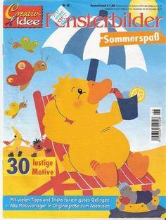 FENSTERBILDER NYÁR - Anita Brīvniece - Àlbums web de Picasa Crafts To Make, Crafts For Kids, Arts And Crafts, Book Crafts, Paper Crafts, Summer Decoration, Magazine Crafts, Magazines For Kids, Painted Books