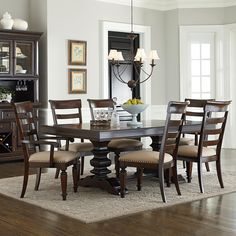 Charleston 7 Piece Trestle Table and Chair Set by Standard Furniture