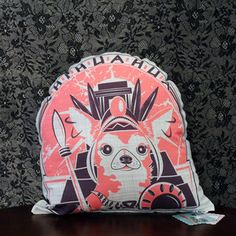 Chihuahua Pillow Pink Girl now featured on Fab.