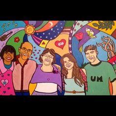 Família U.M. Acrílico em tela.
