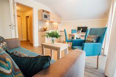 First-Class-Hotelapartment für max. 5 Personen mit Wannenbad oder Duschbad und Balkon