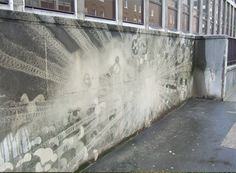 Graffiti green / Reverse graffiti