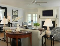 Driven By Décor: Hanging Your TV over the Fireplace: Yea or Nay?